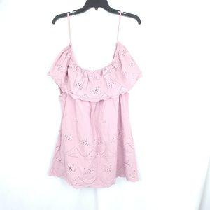 Knox Rose lavender pink off the shoulder top xxl